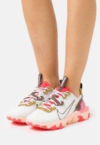Nike Sportswear - REACT VISION - Trainers - summit white/ironstone/siren red - 0