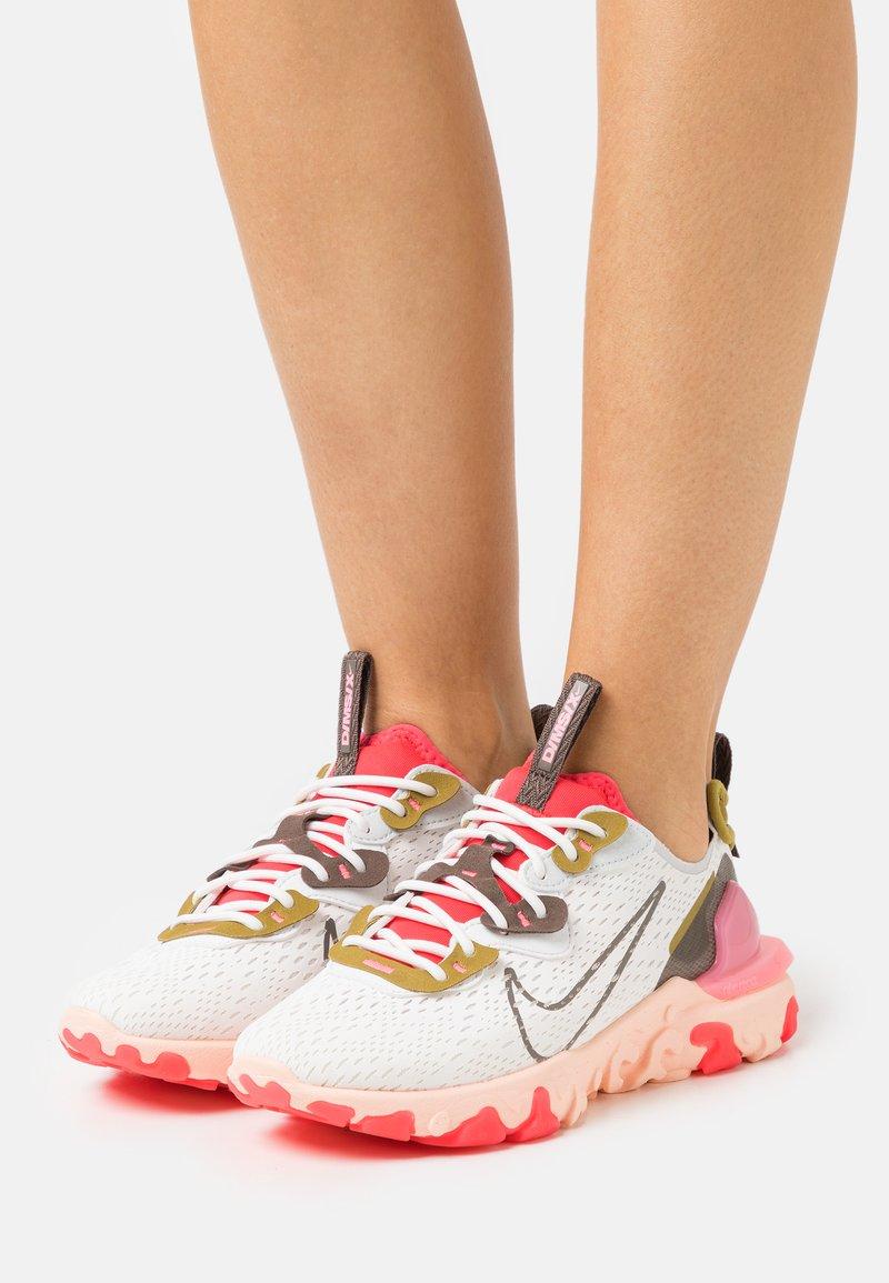 Nike Sportswear - REACT VISION - Trainers - summit white/ironstone/siren red