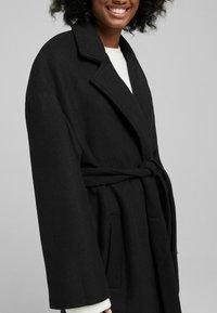 Bershka - MANTEL - Halflange jas - black - 3