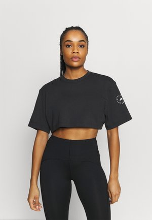 CROP TEE - Topper langermet - black