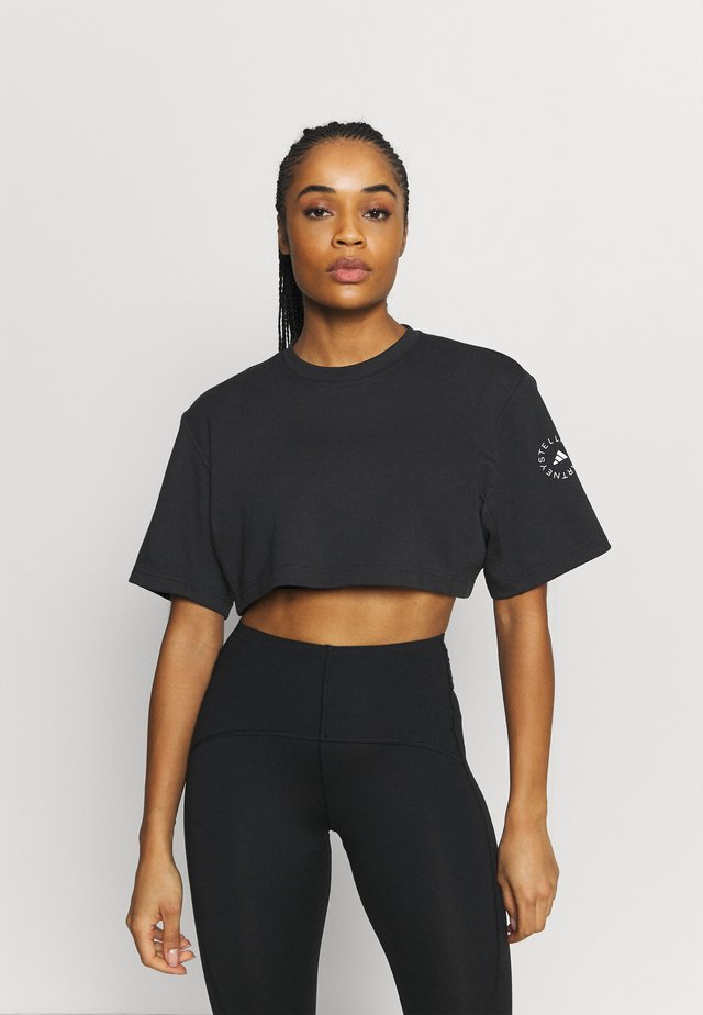 CROP TEE - T-shirt à manches longues - black