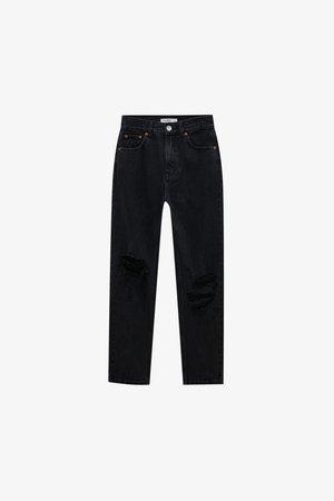 Džíny Relaxed Fit - mottled black