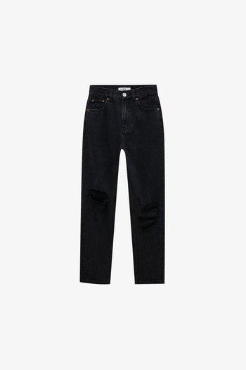 Jeans baggy - mottled black