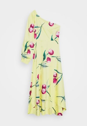 ONE SHOULDER DRESS - Vestido informal - yellow