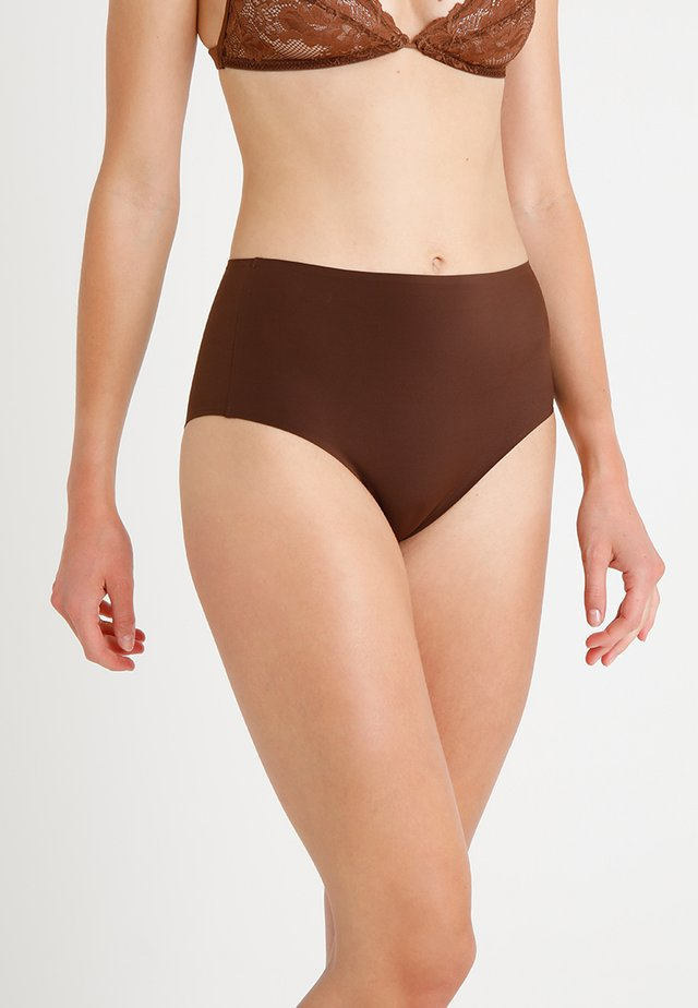 HIGH WAIST BRIEF - Shorty - cacao