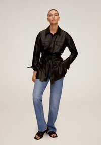 Mango - ANAIS - Faux leather jacket - schwarz - 1