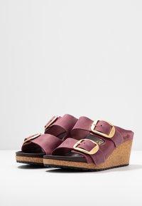 Papillio - NORA - Pantofle na podpatku - zinfandel - 4