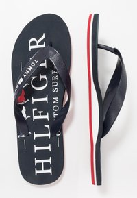 Tommy Hilfiger - NAUTICAL PRINT BEACH - Pool shoes - blue - 1