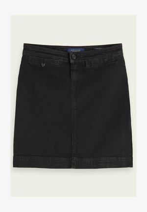 Denim skirt - elegant black