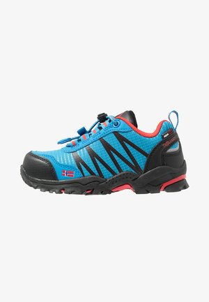 KIDS TROLLTUNGA LOW - Hiking shoes - medium blue/red