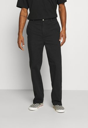ROSS WIDE TROUSERS - Broek - black