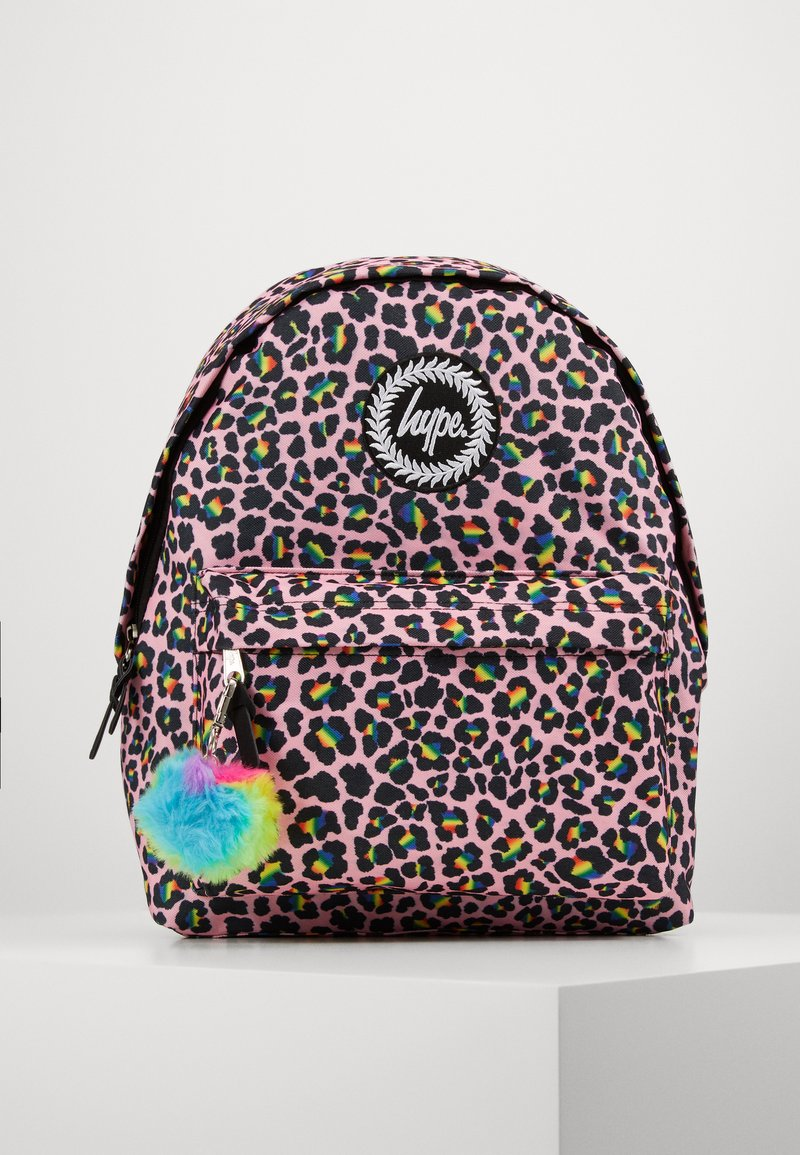 Hype - BACKPACK RAINBOW LEOPARD POM POM - Reppu - multi-coloured