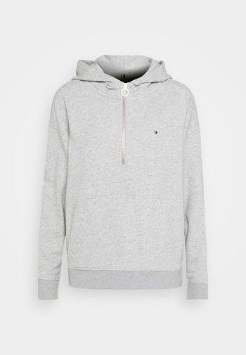 RELAXED HALF ZIP HOODIE - Hoodie - light grey heather