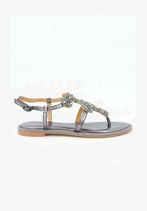 RABAT - T-bar sandals - silver