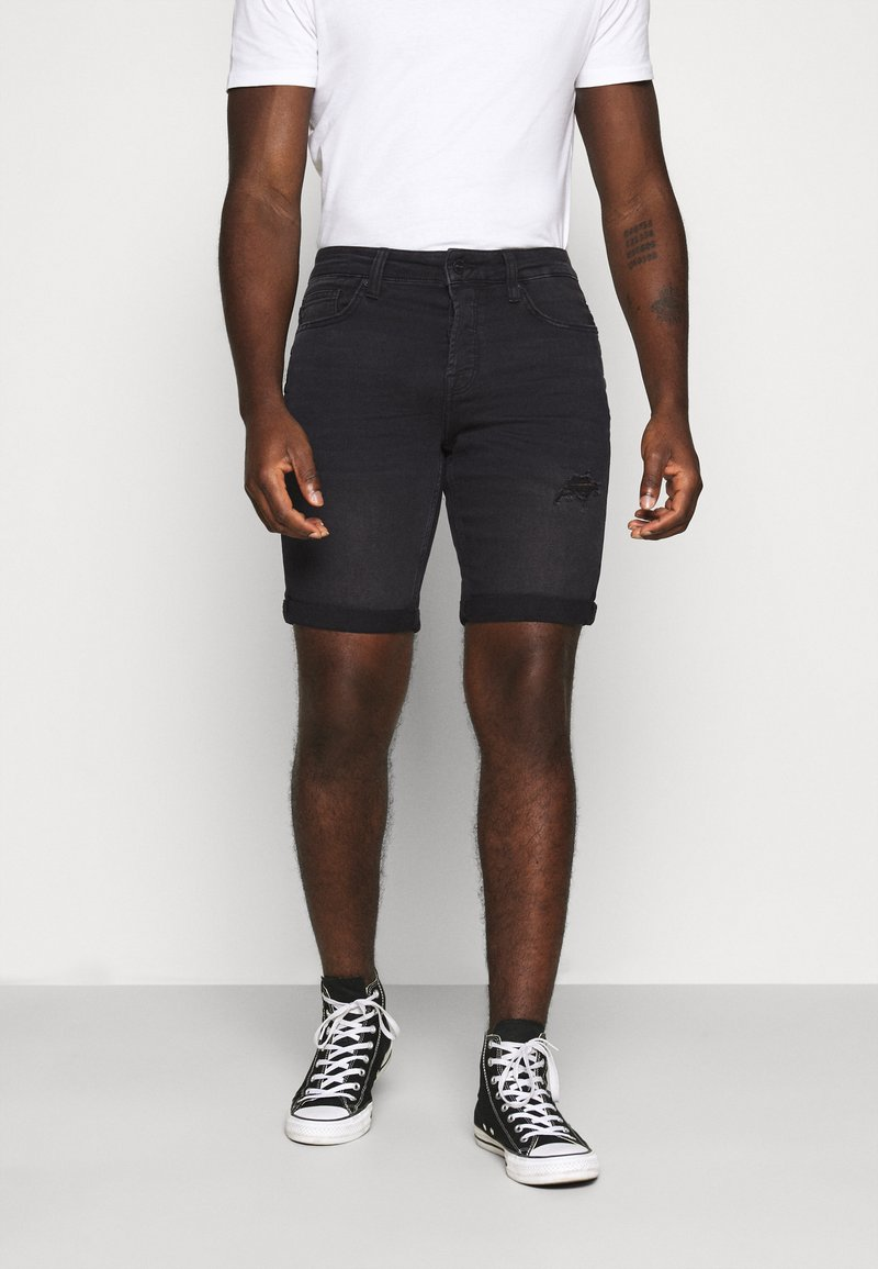 Only & Sons - ONSPLY  - Jeansshorts - black denim