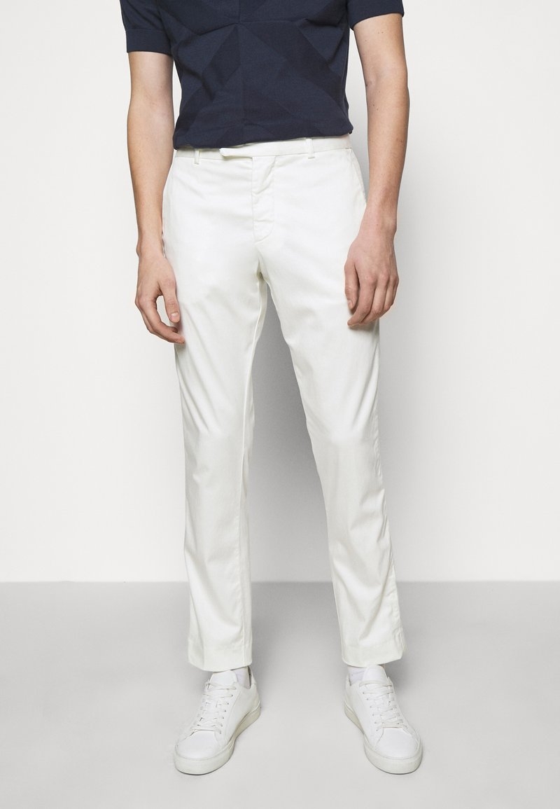 Frescobol Carioca - TAILORED TROUSERS - Kalhoty - off white