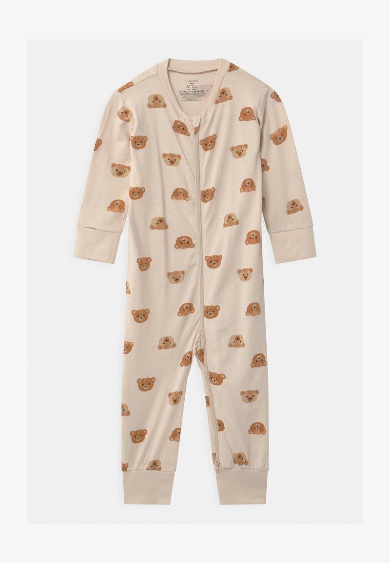 Lindex - TEDDY AT BACK UNISEX - Pyjamas - light beige