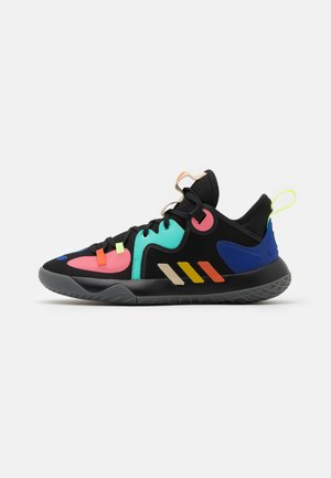 HARDEN STEPBACK 2 UNISEX - Basketbalové boty - core black/yellow/active mint