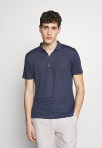 120% Lino - Polo shirt - dark blue fade - 0