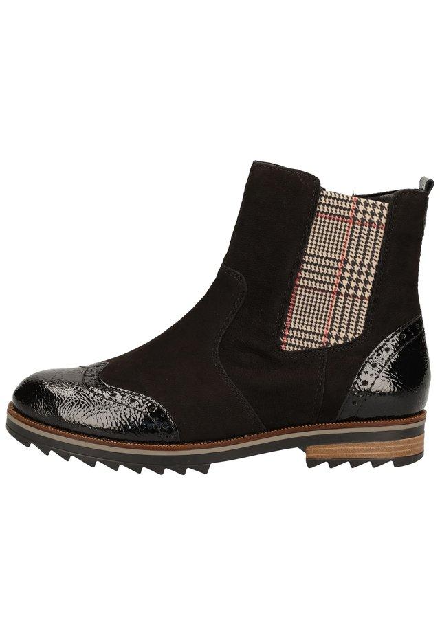 Ankle boot - black/schwarz/sand-karo /