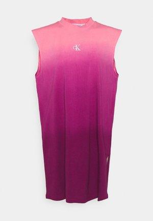 DIP DYE MUSCLE TEE DRESS - Day dress - purple