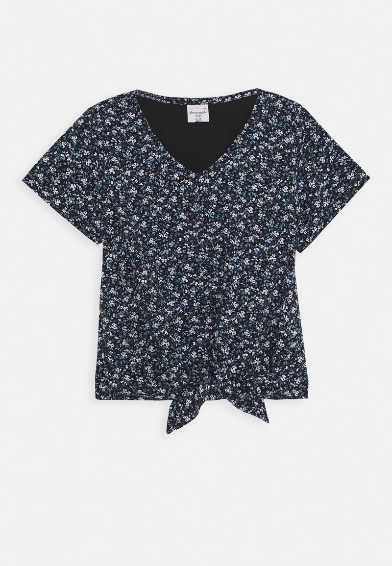 Abercrombie & Fitch - TIE FRONT - T-shirt con stampa - black