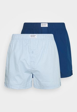 MEN GINGHAM CHECK 2 PACK - Boxer shorts - light blue