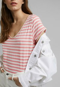 Esprit - SLUB - Print T-shirt - pink - 3