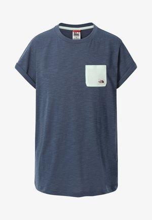 W S/S CAMPEN TEE - Print T-shirt - dark blue