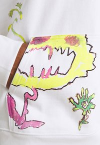 Weekday - YARROW HOODIE UNISEX  - Sweatshirt - white - 6