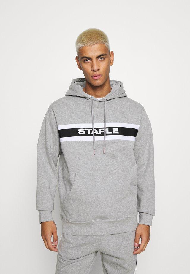 TAPE LOGO HOODIE - Sweatshirt - heather grey