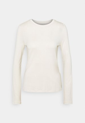 SILK MIX LONG SLEEVE - Long sleeved top - off-white