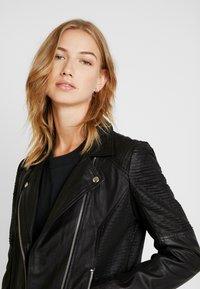 YAS - YASPAULINA NAPLON JACKET - Leather jacket - black - 3