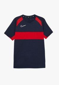 Nike Performance - DRY ACADEMY  - T-shirt sportiva - obsidian/university red/white - 0