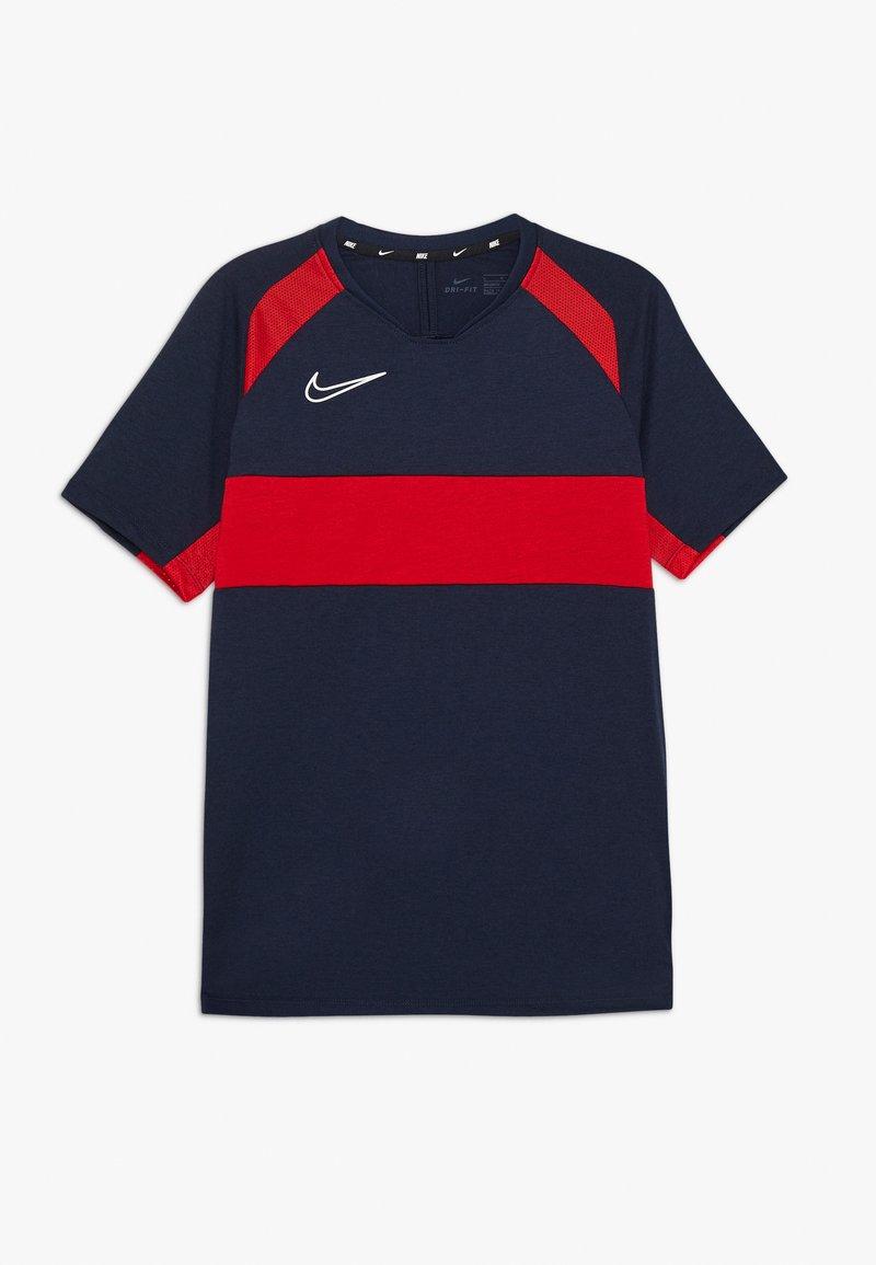 Nike Performance - DRY ACADEMY  - T-shirt sportiva - obsidian/university red/white