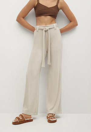 PALAZZO - Trousers - light/pastel grey