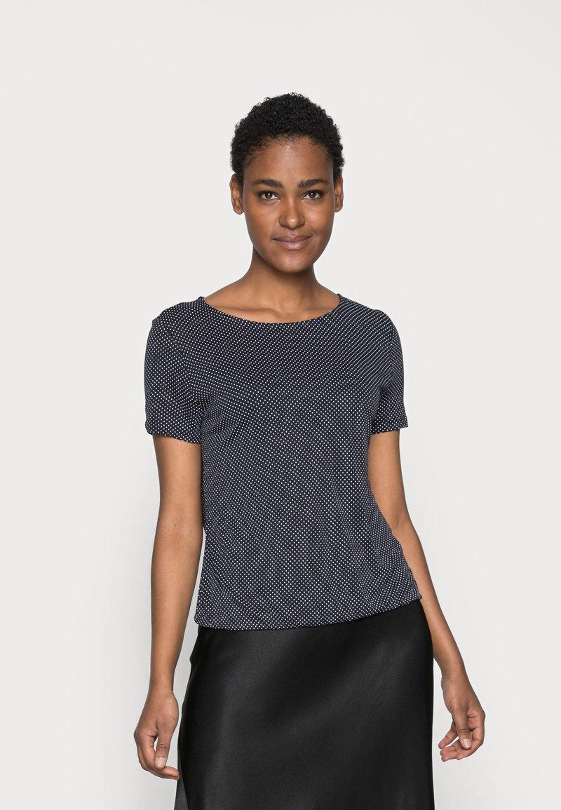 Opus - SIEKE - Print T-shirt - simply blue