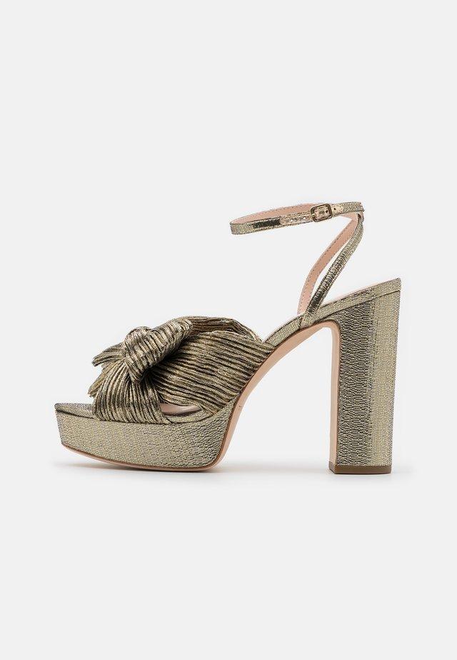 NATALIA - Højhælede sandaletter / Højhælede sandaler - gold lame