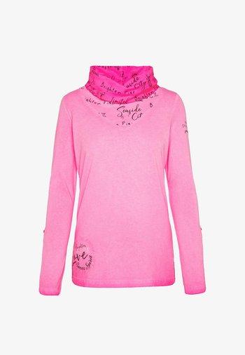 LANGARMSHIRT MIT HOHEM LOGO-KRAGEN - Long sleeved top - knockout pink