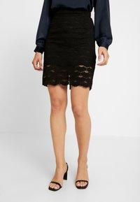 Vila - A-snit nederdel/ A-formede nederdele - black - 0