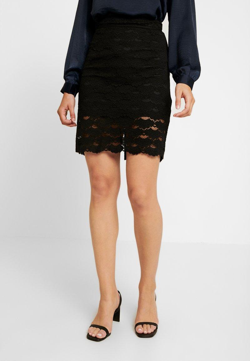 Vila - A-snit nederdel/ A-formede nederdele - black
