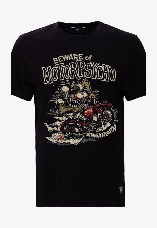 MIT MONSTER MOTIV MOTORPSYCHO - T-shirt print - schwarz