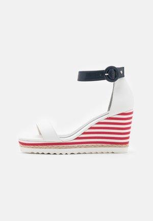 BY GUIDO MARIA KRETSCHMER - High heeled sandals - white/navy