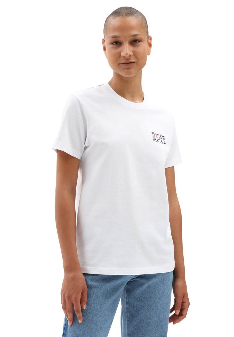 Vans - WM HEAT SEEKER - Print T-shirt - white