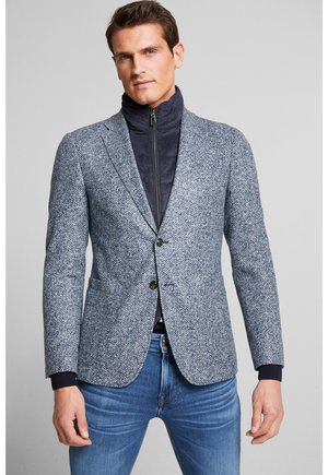 Blazer jacket - navy/hellgrau