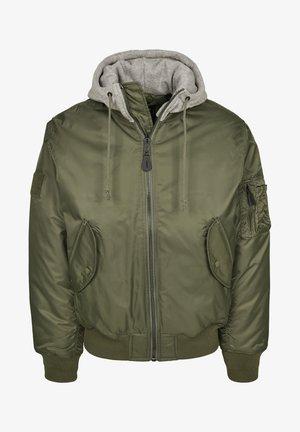 HOODED  - Light jacket - olive/grey