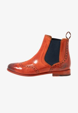 SELINA  - Ankle boots - orange/navy