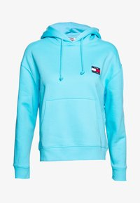 Tommy Jeans - BADGE HOODIE - Sweat à capuche - fresh aqua - 0