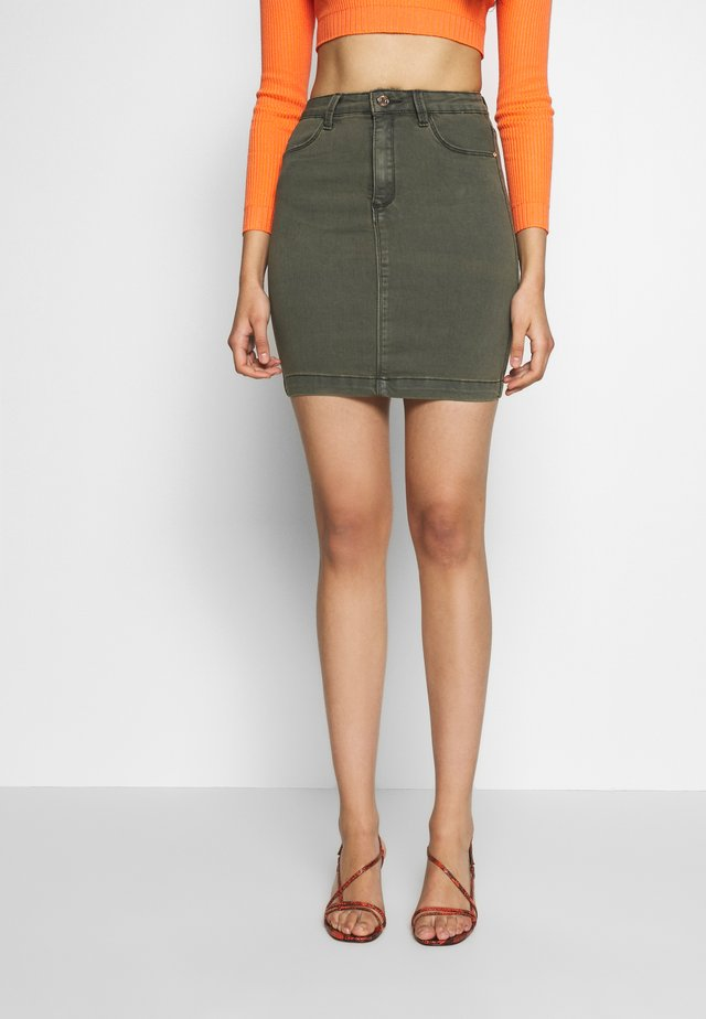 SUPERSTRETCH MINI SKIRT - Minifalda - khaki