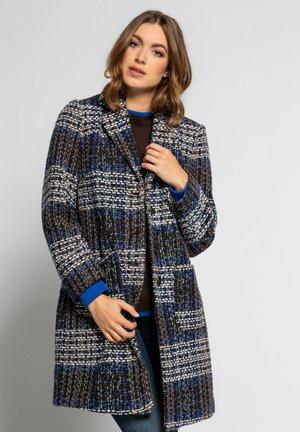 Classic coat - pfauenblau